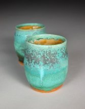 artistic coffee mugs turquoise cup