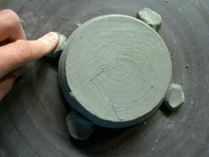 anchoring clay pot projects for trimming
