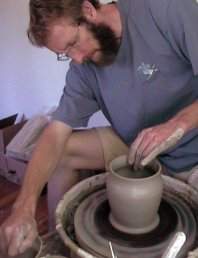 how to make clay pots - artist photo
