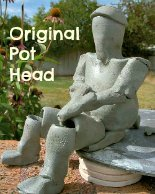 original pot head quote on ceramic figure