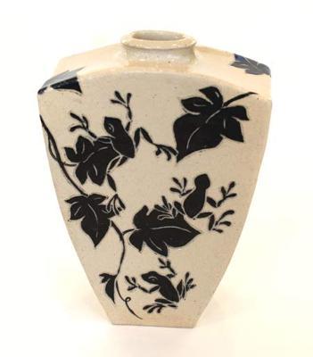 Storms, Lakeside Pottery Sgraffito Vase
